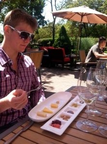Patrick at a wine and cheese pairing
