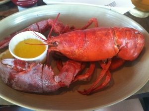 A legal seafood steamed lobster