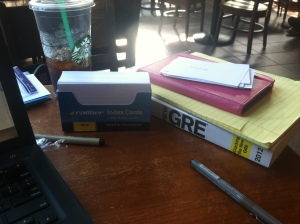 Studying in Starbucks