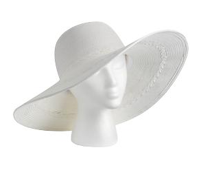Echo Braided Floppy Hat in White
