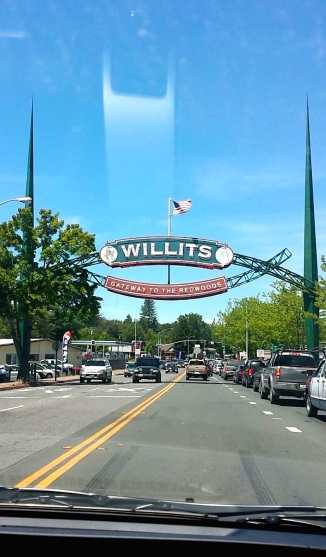 Arriving in Willits